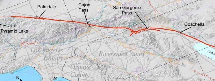California Mega Quakes and San Andreas Fault